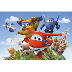 SUPER WINGS puzzle tekturowe 60 el.