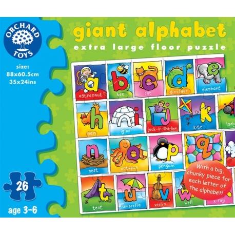 OUTLET - ALFABET tekturowe puzzle podłogowe 36 el.