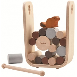 BÓBR drewniana gra zręcznościowa