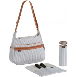 TORBA Z AKCESORIAMI Urban bag Pinstripe light grey Marv