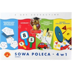 SOWA POLECA zestaw gier edukacyjnych 4w1