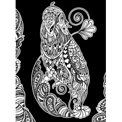 PAPUGA kolorowanka welwetowa 47x35 cm