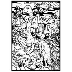 DINOZAURY kolorowanka welwetowa 21x29,7 cm