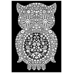 SOWA kolorowanka welwetowa 21x29,7 cm