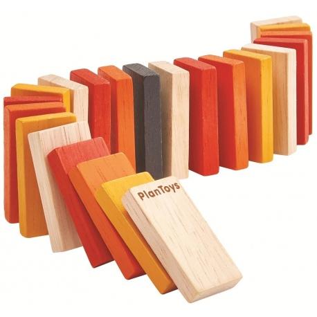 MINI DOMINO kolorowa drewniana gra