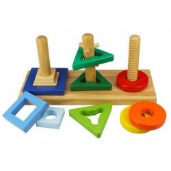 OUTLET - KSZTAŁTY I KOLORY drewniany sorter na palikach
