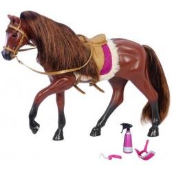 CIEMNOBRĄZOWY KOŃ dla lalki 15 cm Brown American Quarter Horse