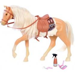 JASNOBRĄZOWY KOŃ dla lalki 15 cm Brown American Quarter Horse