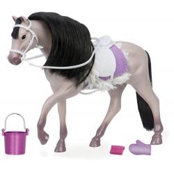 SZARY KOŃ dla lalki 15 cm Grey Andalusian Horse