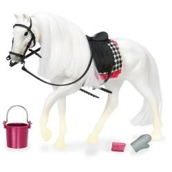 BIAŁY KOŃ dla lalki 15 cm White Camarillo Horse