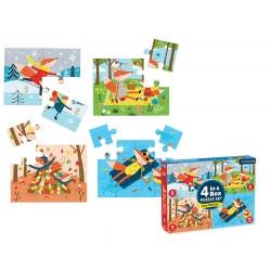 PORY ROKU tekturowe pierwsze puzzle 4w1