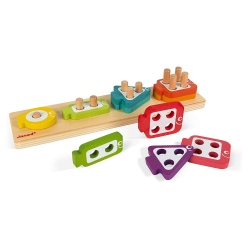 RYBKI drewniany sorter kształty i kolory
