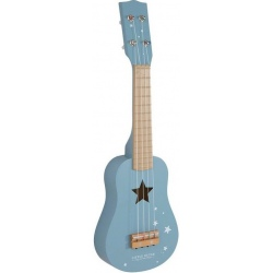 NIEBIESKA GITARA drewniany instrument