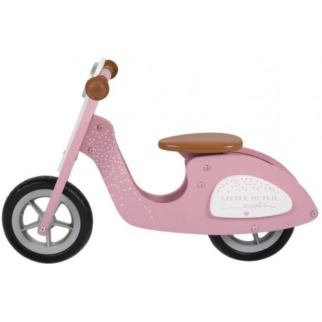 DREWNIANY SKUTER różowy rowerek