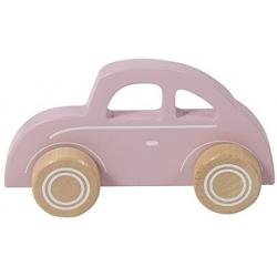 DREWNIANE AUTKO różowy pojazd