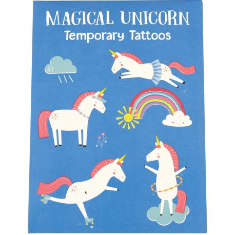 JEDNOROŻCE zestaw tatuaży
