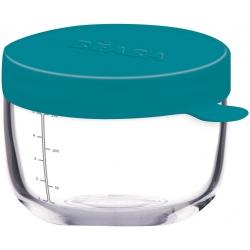 BLUE szklany słoiczek do żywności 150 ml