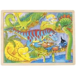 DINOZAURY drewniane puzzle 48 el.