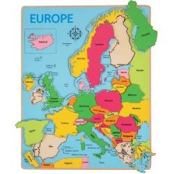 MAPA EUROPY drewniana układanka 25 el.