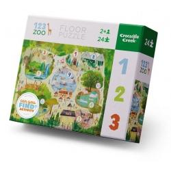 CYFRY W ZOO puzzle podłogowe 24 el.