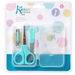 TURKUSOWY zestaw do manicure dla niemowląt