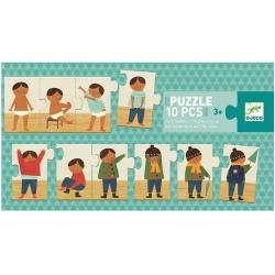 UBIERAM SIĘ puzzle tekturowe 10 el.