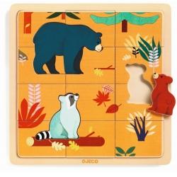 KANADA drewniane puzzle 15 el.