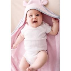 RÓŻOWE OKRYCIE KĄPIELOWE dla niemowląt 85x85 cm
