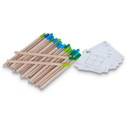 ZAPAŁKI drewniana układanka logiczna