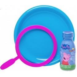 PEPPA zestaw kreatywny obręcz, talerz i płyn 250 ml