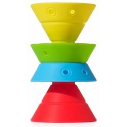 HIX zabawka kreatywna silikonowe stożki 4 szt.
