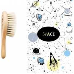 SPACE szczotka z koziego włosia + myjka
