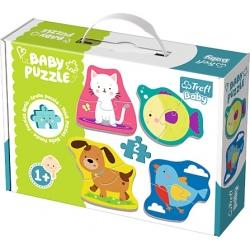 ZWIERZĄTKA tekturowe grube puzzle Baby Classic