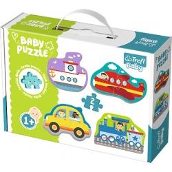 POJAZDY tekturowe grube puzzle Baby Classic