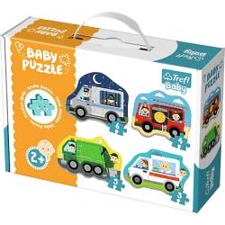 POJAZDY RATUNKOWE tekturowe grube puzzle Baby Classic