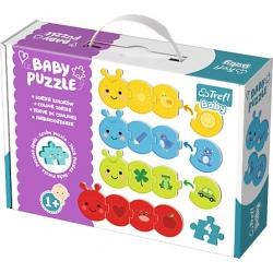 KOLORY tekturowe grube puzzle Baby Classic