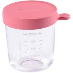 PINK szklany słoiczek do żywności 250 ml