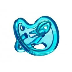 OUTLET - BLUE anatomiczny smoczek uspokajający SiliMed 0m+ rozm. S