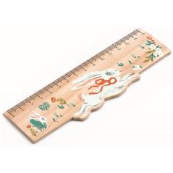 LUCILLE drewniana linijka 15 cm