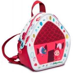 CZERWONY  KAPTUREK mini plecaczek dla przedszkolaka