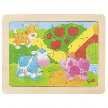 FARMA drewniane puzzle 24 el.