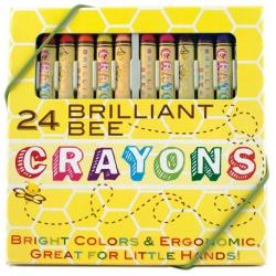 KREDKI ŚWIECOWE trójkątne 24 szt. Brilliant Bee