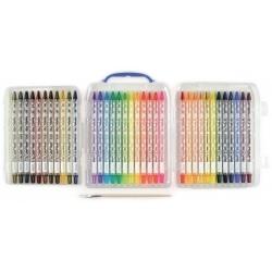 WYKRĘCANE KREDKI AKWARELOWE w etui 36 szt. Rainbow Doodlers