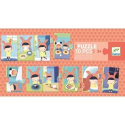 DZIEŃ puzzle tekturowe 10 el.