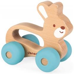 KRÓLICZEK drewniany pojazd Baby Pop