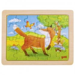 LISEK drewniane puzzle 24 el.