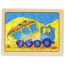 CIĘŻARÓWKA drewniane puzzle 24 el.