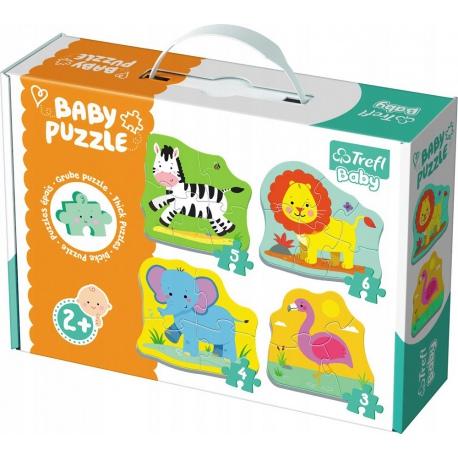 ZWIERZĄTKA NA SAFARI tekturowe grube puzzle Baby Classic