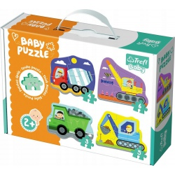 POJAZDY NA BUDOWIE tekturowe grube puzzle Baby Classic