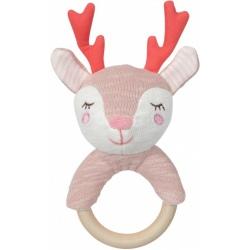 JELONEK grzechotka z drewnianym gryzakiem klonowym Dreamy Deer